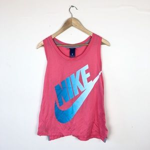 Nike pink sleeveless muscle tank size large